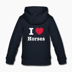 This design lets you change all colours - I love Horses Gensere