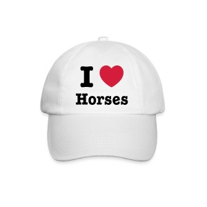 I love Horses - Baseball Cap