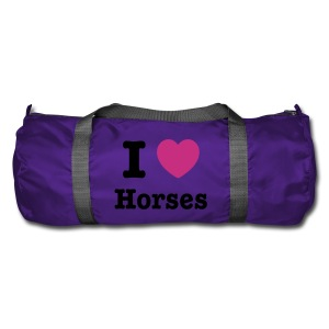 I love Horses - Duffel Bag
