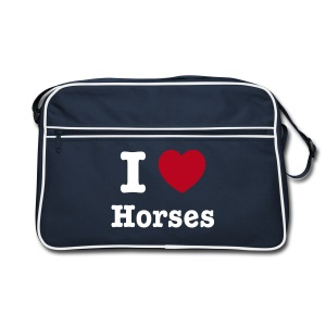 I love Horses - Retro Bag