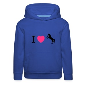 I love Ponies wild horse - this design lets you change all colours Gensere - Premium Barne-hettegenser