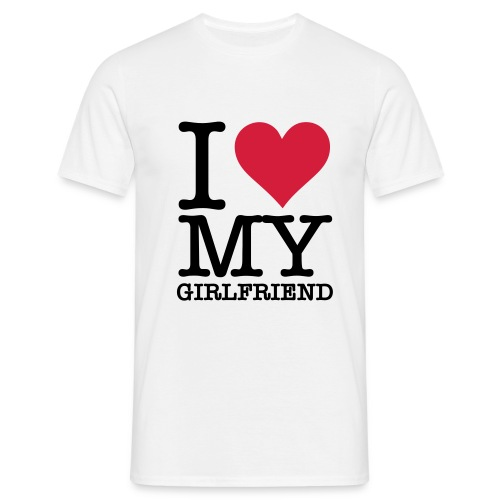 i love my gf - Mannen T-shirt