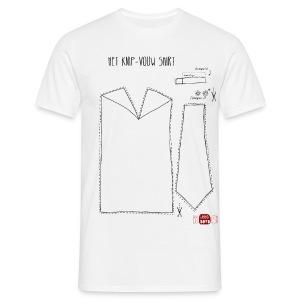 Het knip-vouw shirt - Mannen T-shirt