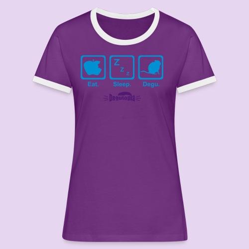Eat. Sleep. Degu. Ladies' Ring Tee - Women's Ringer T-Shirt