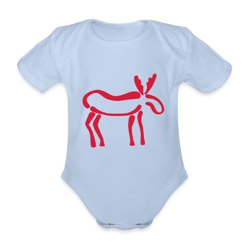 Elch Body - Baby Bio-Kurzarm-Body