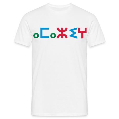 White Amazigh in tifinagh men's T-Shirt - Men's T-Shirt