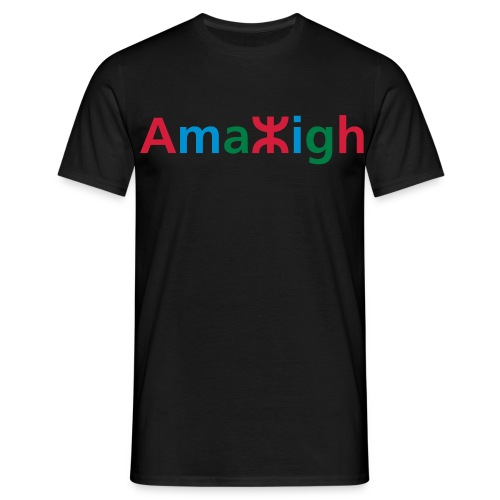 Black Amazigh in tifinagh men's T-Shirt - Men's T-Shirt