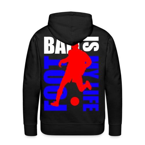 Sweat à capuche homme football is my life - Sweat-shirt à capuche Premium pour hommes