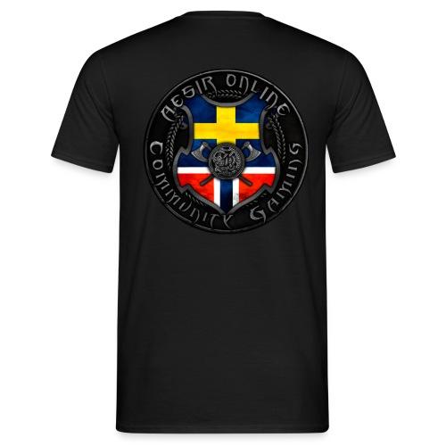 AOC-Gaming T-shirt med Ny logga Bak i Vitt - T-shirt herr