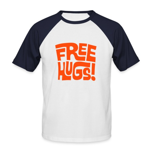 free hugs - Kortermet baseball skjorte for menn