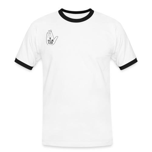 Vi gillar olika shirt. - Kontrast-T-shirt herr