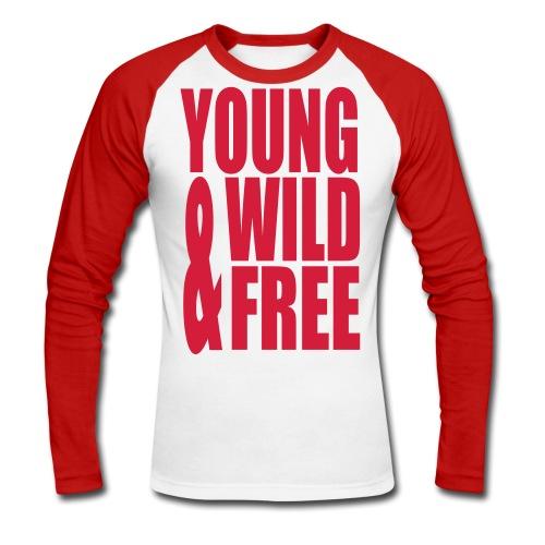 Yung wild & free langærmet T-Shirt - Langærmet herre-baseballshirt
