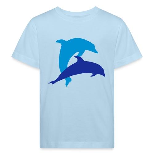 Dolphin play - Kids' Organic T-Shirt
