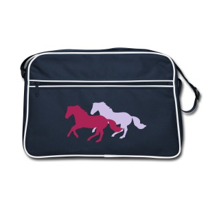 Two Galloping Horses - Retro Bag