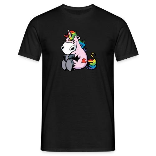 Dickes Einhorn Männershirt- ungerastert - Männer T-Shirt