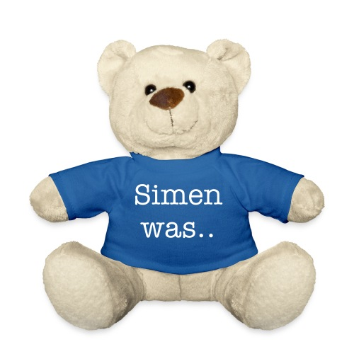 Simen was.. (see backside) His name. - Teddy Bear