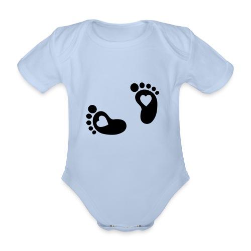 Printjes sweater - Baby bio-rompertje met korte mouwen