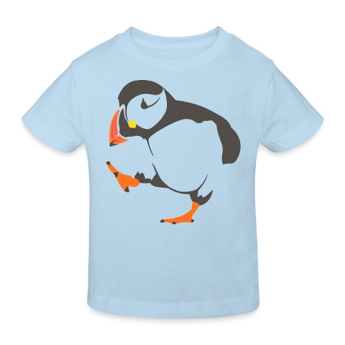 Happy puffin kids t-shirt - Kids' Organic T-Shirt