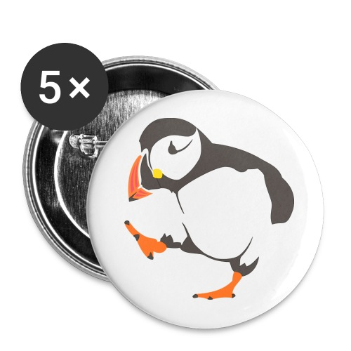 Happy Penguin Button/Badge - Buttons large 2.2''/56 mm(5-pack)