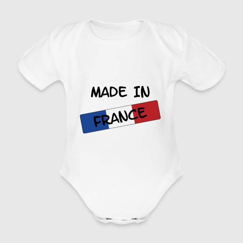 Made in FRANCE ! Tee shirts Bébés - Body bébé bio manches courtes