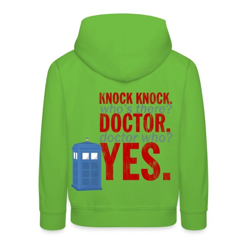 Knock Knock, Doctor Who? - Kids' Premium Hoodie