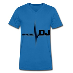 Official DJ - Men's Organic V-Neck T-Shirt by Stanley & Stella