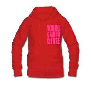 Young Wild &Free - Women's Premium Hooded Jacket