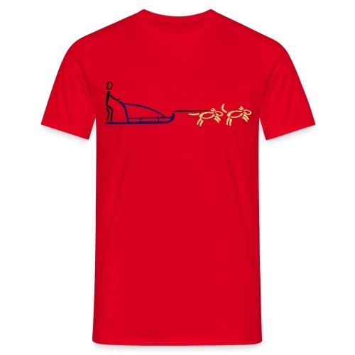 Hundeschlitten Shirt - Männer T-Shirt