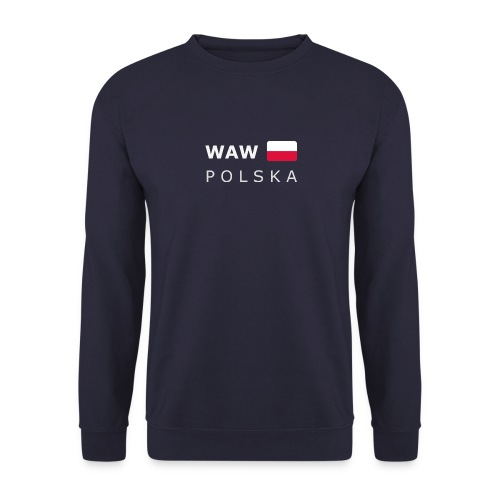 Men's Pullover WAW POLSKA white-lettered - Men's Sweatshirt
