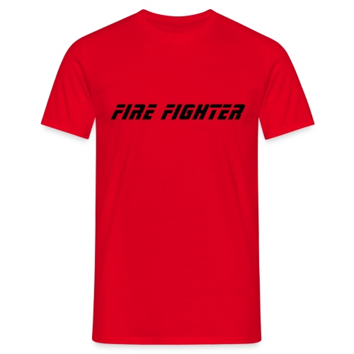 Firefigher T-Shirt (Red) - Men's T-Shirt
