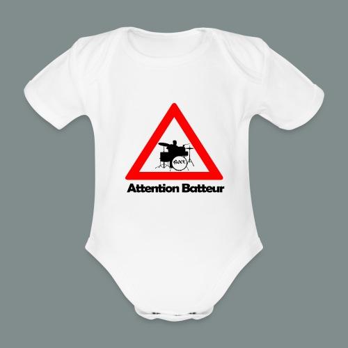 Body bébé bio manches courtes - rock,musique,musicien,groupe,drums,drummer,batterie,Batteur