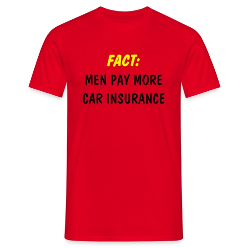 Red T-Shirt - Insurance - Men's T-Shirt