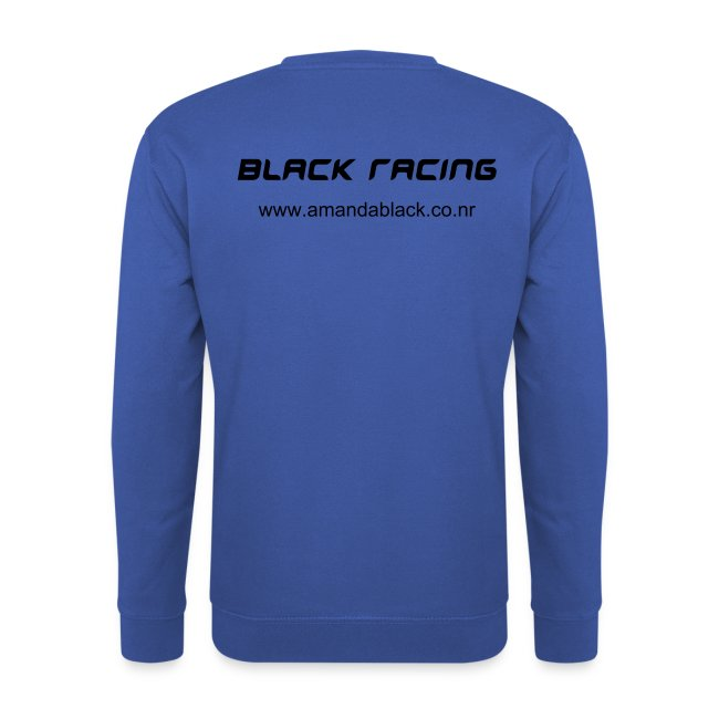 Black racing jumper - white