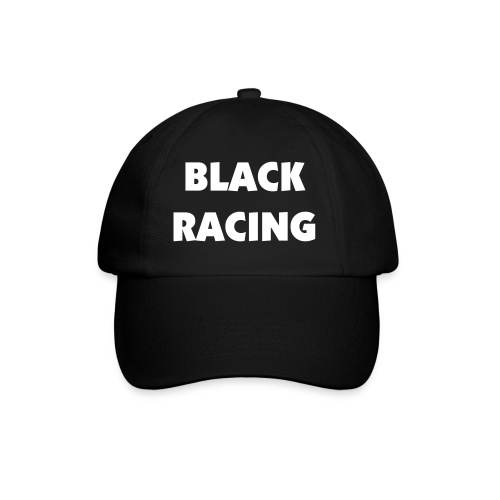 Black Racing Cap - Black - Baseball Cap