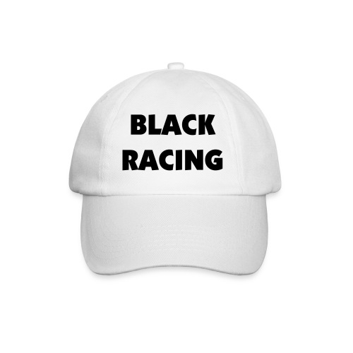 Black Racing Cap - White - Baseball Cap