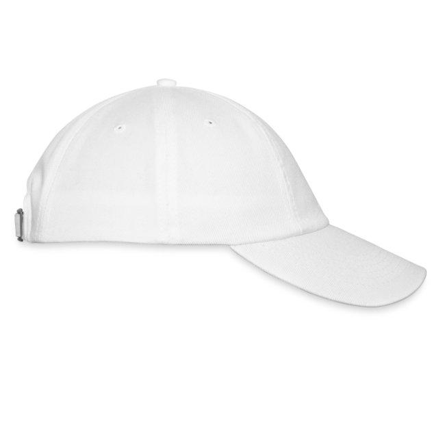 Black Racing Cap - White