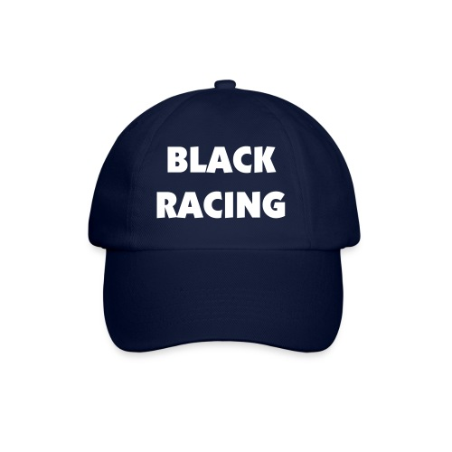 Black Racing Cap - Blue - Baseball Cap