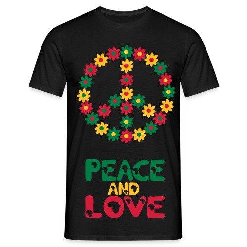 Peace and Love T-Shirt - Men's T-Shirt