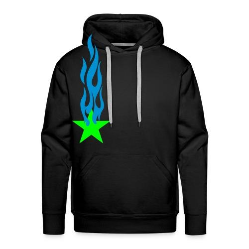 étoile-coeur-carré-cercle - Sweat-shirt à capuche Premium pour hommes