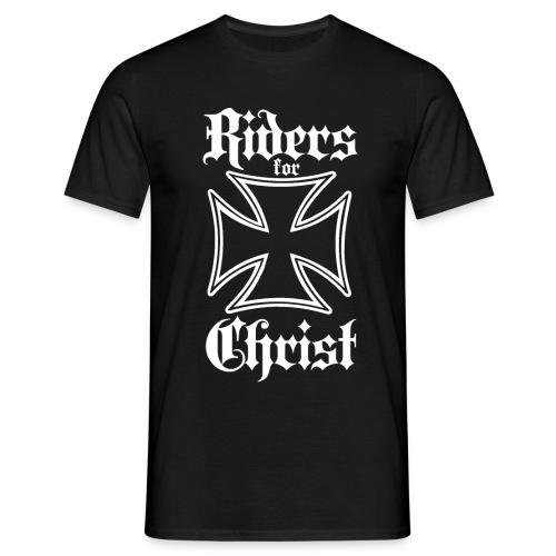 Riders for Christ Iron Cross 1 - Men's T-Shirt