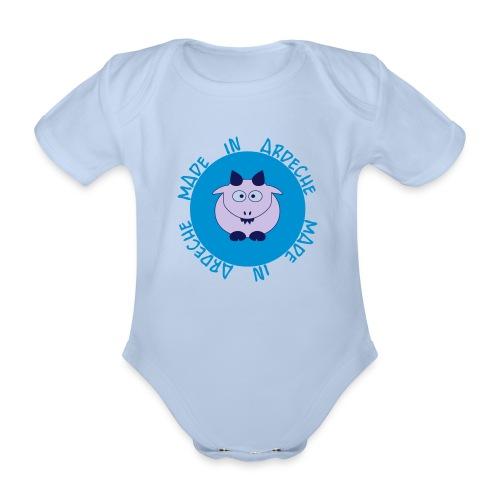 Baby boy made in Ardèche - Body bébé bio manches courtes