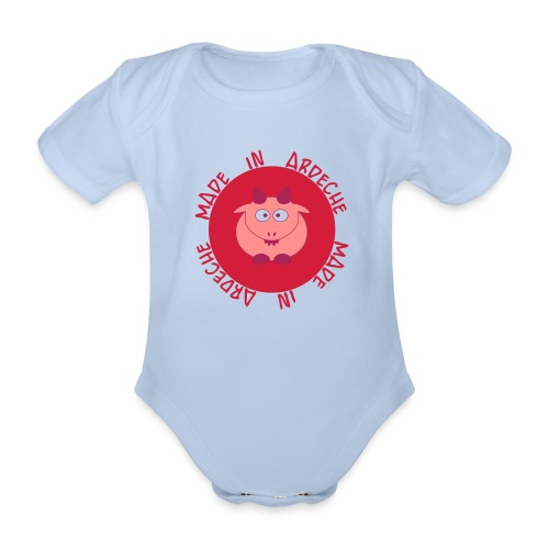Baby girl made in Ardèche - Body bébé bio manches courtes