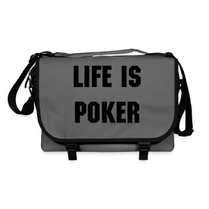 Life is poker - Sac à bandoulière