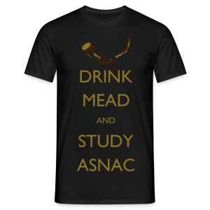 Drink Mead and study - Men's T-Shirt