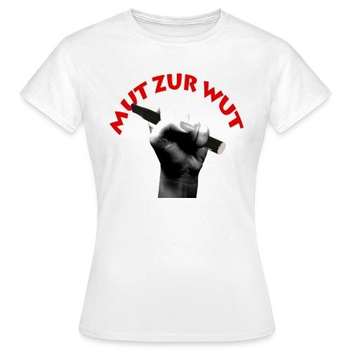 Frauen T-Shirt - Logo Mut zur Wut designed by Manuela Keller