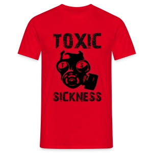 Mens red Toxic t-shirt - Men's T-Shirt