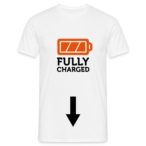 Herre t-shirt med Fully Charged - Herre-T-shirt