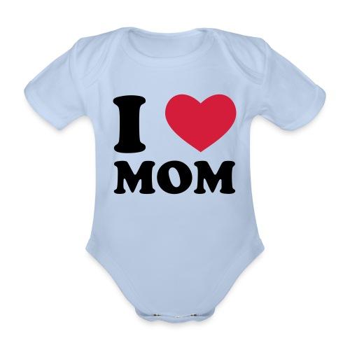 I love MOM - Kortærmet babybody, økologisk bomuld