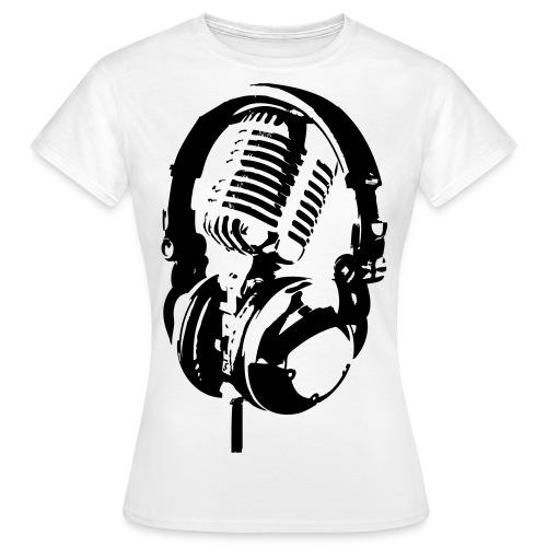 Rappublika Headphone Frauenshirt Weiß - Frauen T-Shirt