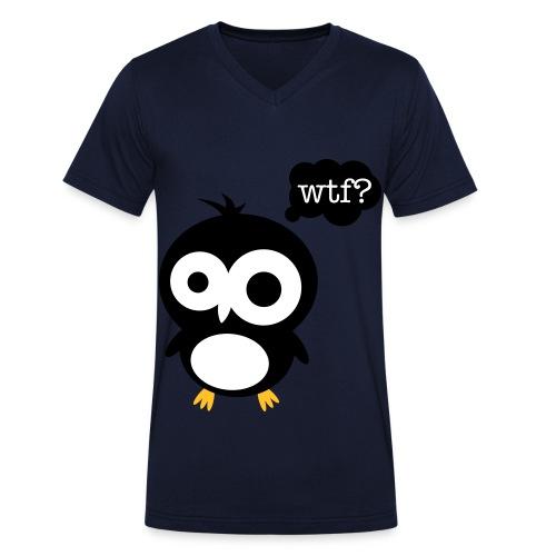 Ask Pingu  - Økologisk Stanley & Stella T-shirt med V-udskæring til herrer